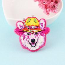 Novo exótico bonito de silicone bulldog cão chave tampa chaveiro feminino meninas crianças chaveiro presente porte clef chaveiro(China)