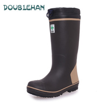 BIG EUR 37-48 Fashion Men steel toe cap Non-slip rubber shoes Knee-high safety shoes rain boots rainboots water shoes rubber(China (Mainland))