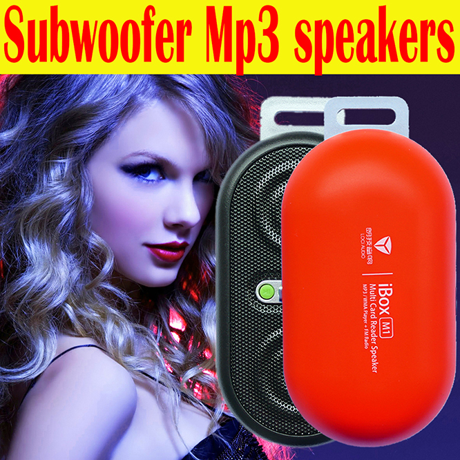 2015 ! Multi card Reader Speaker Built-in FM Radio /Amplifier /Speaker Portable Mp3 Subwoofer speakers IBOX C8.0 - TOP-ELE store