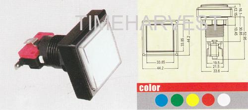 44.2 x 44.2 square button with switch and led lamp/slot machine button/casino pushbutton for Casino machine/Slot Game Machine(China (Mainland))