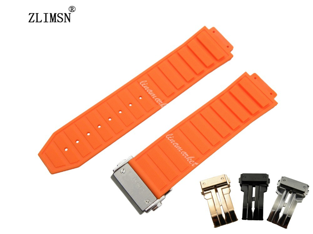 26mm / 19mm NEW Men Orange Diving Silicone Rubber WatchBAND Strap<br><br>Aliexpress