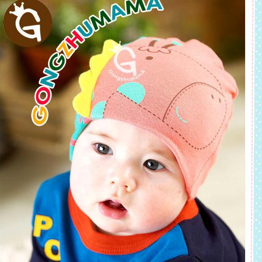 2015 hot sale knitted cotton baby winter hat, giraffe shaped baby beanies, 4-30 month newborn kids hat(China (Mainland))