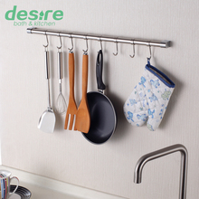 IKEA Style 55cm Hanging Rod and 8 Hooks Kitchen Storage Rack,Free shipping-K1(China (Mainland))