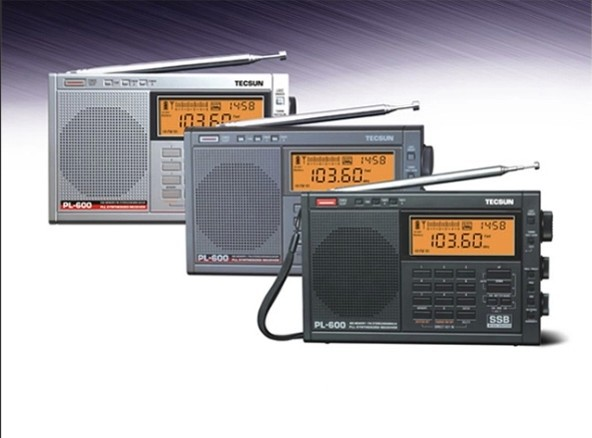 TECSUN PL-600 Full-band Synthesized Stereo Digital tuner tunning AM FM LW SW SSB Shortwave Portable Radio with clock(China (Mainland))