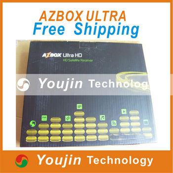 AZBOX ULTRA HD Free  Shipping----New Arrival DVB-S2 Tuner Azbox Ultra HD Satellite Receiver