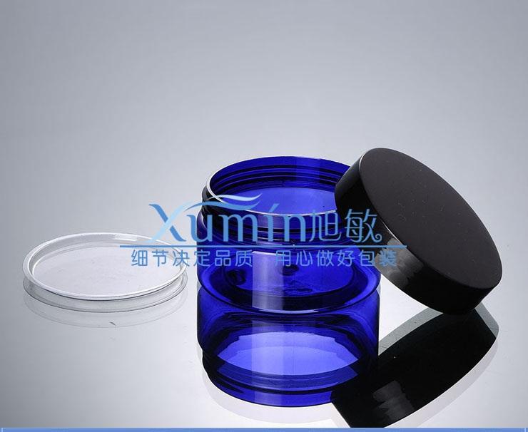 buy 100g blue PET Bottle With Gorgeous black PP Cap, 100ml Plastic Container Cream Jar, 100pcs PET 100g blue color Cosmetic jar<br><br>Aliexpress