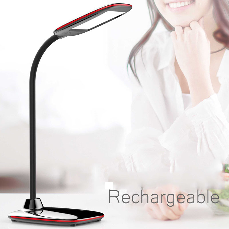Modern 5W Rechargeable 24 led Desk Lamp Luminaria De Mesa USB Twisting Bed Lamp Brightness 3 Mode Dimmable Table Lights(China (Mainland))