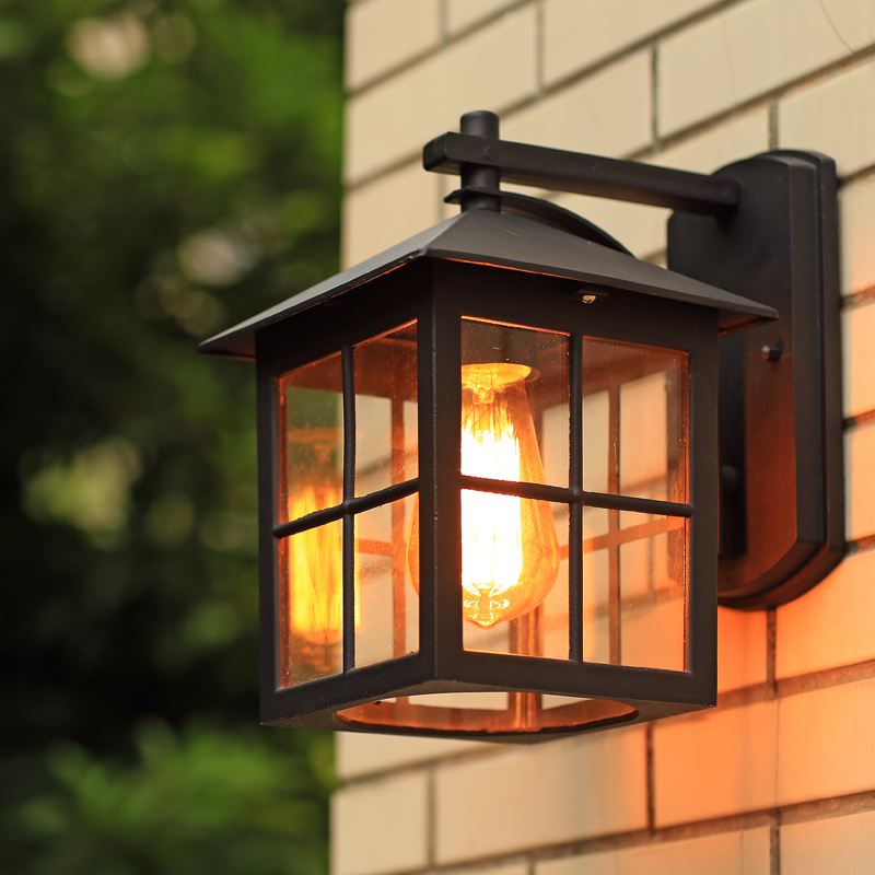 Vintage Outdoor Wall Lamps : Wall Lamp American Country Style simple modern waterproof outdoor lamps retro nostalgia ...
