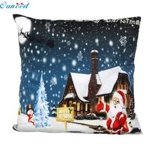 Buy New Home Decorative Christmas Santa Pillow Case Sofa Waist Throw Cushion Cover Blue Home Decor Free 45cm*45cm Aug26 for $2.06 in AliExpress store