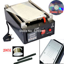 110V/220V Mobile Built-in Pump Vacuum Metal Body Glass LCD Screen Separator Machine Max 7 inches+200M Cutting Wire Free shipping(China (Mainland))
