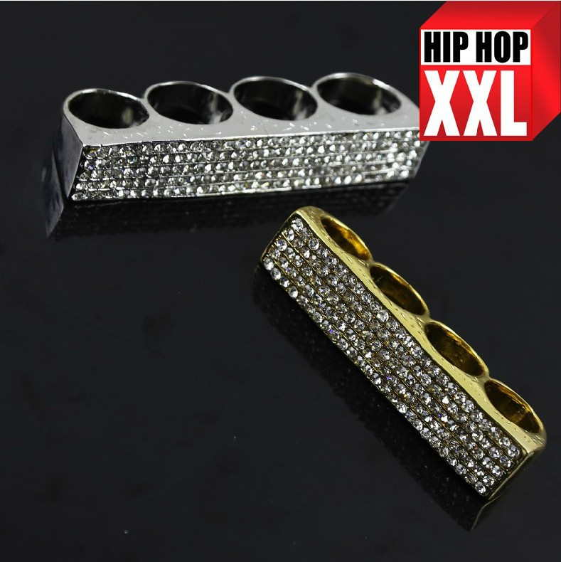 Free shipping high quality Justin Hip Hop Exaggerated street dance Bling 4 finger ring bijouterie men accessories jewelry 2014()