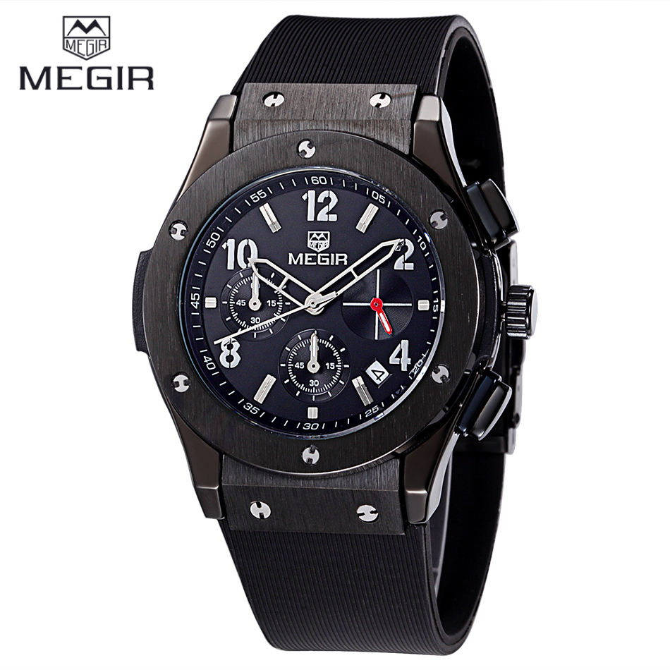 relogio masculino MEGIR Watch Men Chronograph Quartz Mens Watches Top Brand Luxury Outdoor Sports Analog Rubber Wristwatch - Speciality Store store