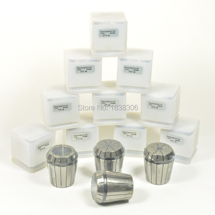 6PCS (16mm-21mm)ER40 I.T.R0.015 ERcollet set for CNC milling lathe tool/milling cutter/cylindric straigt tool holder(Hong Kong)