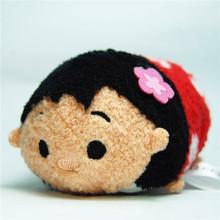 3Inch TSUM TSUM Mini Minnie Mickey Sebastian Duffy Mermaid plush toys for girl kids dolls accessory(China (Mainland))