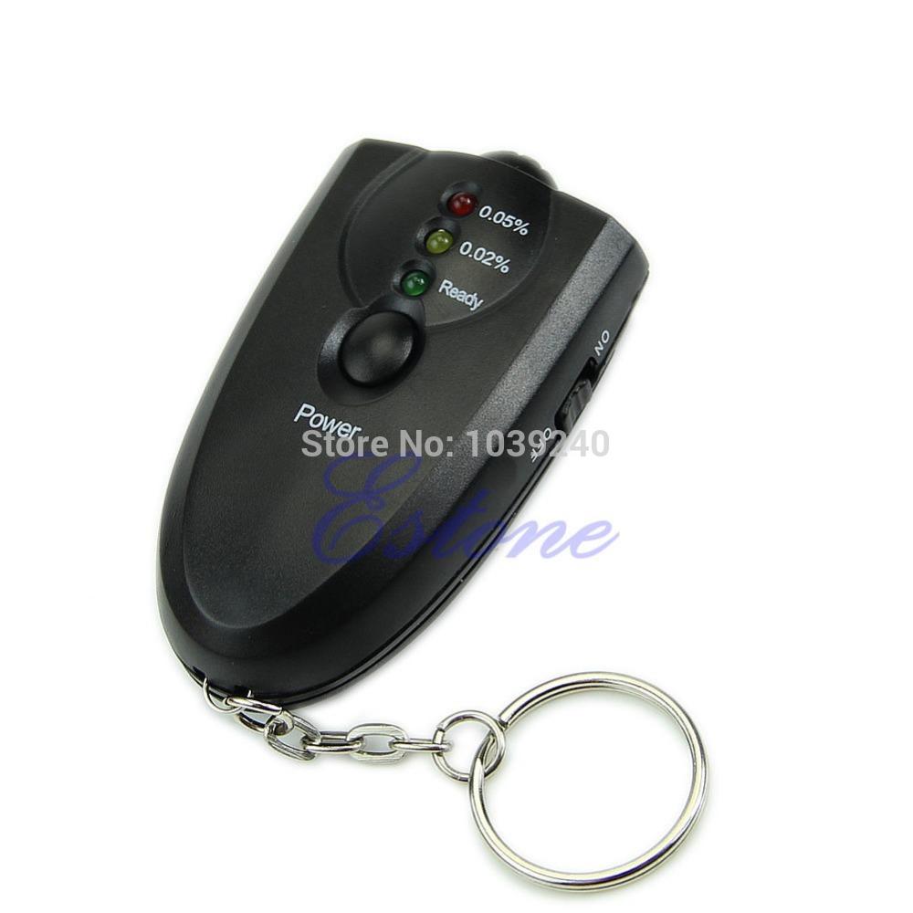 L155 Free Shipping New Breathalyzer Keychain Led Breath Alcohol Tester With Flashlight(China (Mainland))