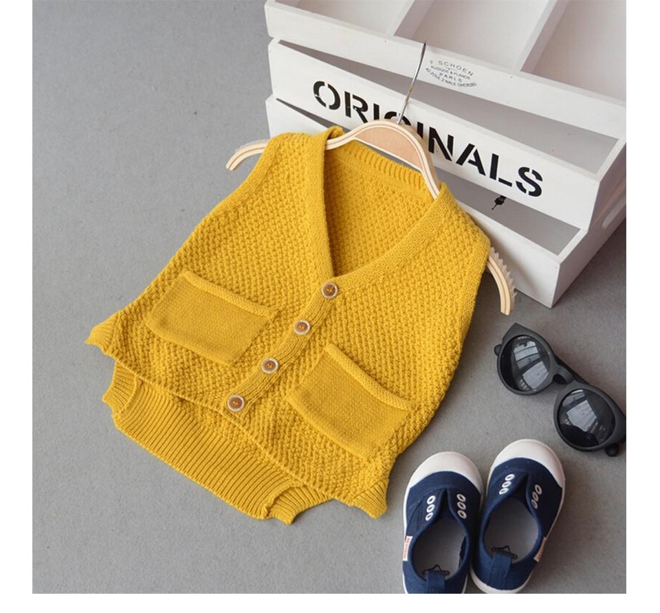 OneTwo 1-5Y Baby Boy V-neck Sweater Vest Children sweatercoat Kids Knit Jacket Brand waistcoat Outwear Winter Coat Clothes