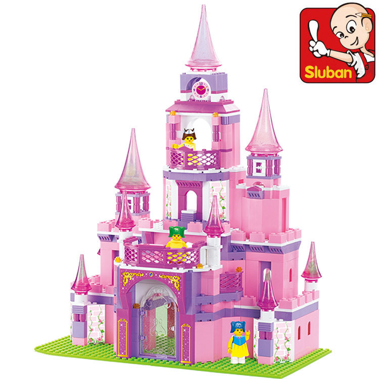 Sluban B0152 learning/education Princess series Castle Building Block Set Girls Bricks Gift Compatible With Lego(China (Mainland))