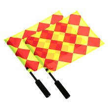 Soccer Referee Flag Fair Play Sports Match Football Linesman Flags Football Judge Sideline Flag with Carry Bag(China (Mainland))