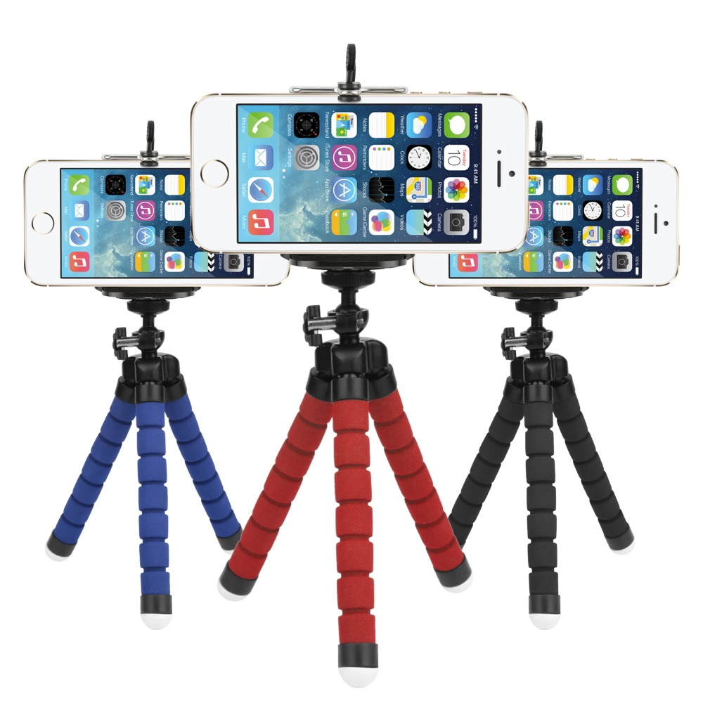 Mini Portable Flexible Sponge Octopus Tripod For Phone Gopro Stand Mount With Holder Tripod for Nikon d3300 d3200 DSLR Camera(China (Mainland))