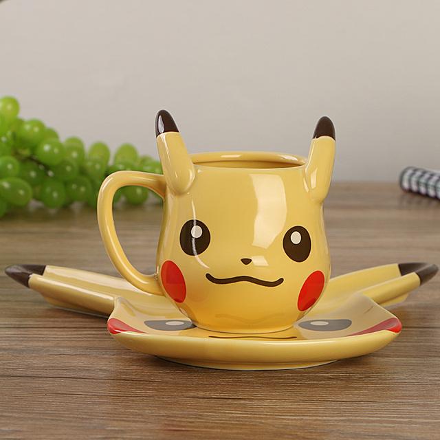 Pikachu coffe mug + saucer