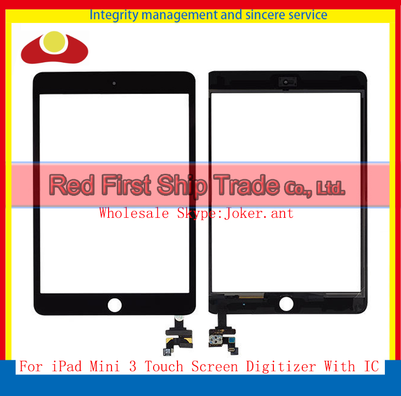 "High Quality 7.9"" For Ipad Mini 3 Mini3 A1599 A1600 A1601 Touch Screen Digitizer With IC Glass Lens Black Or White Free Shipping(China (Mainland))"