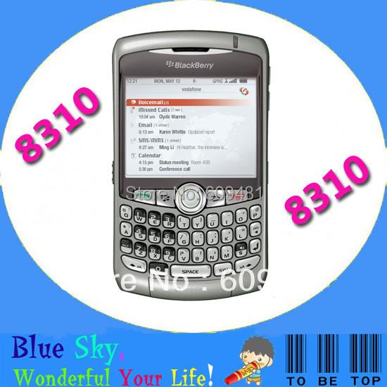 HK Post Free Shipping Wholesale original unlocked Blackberry 8310 curve Qwerty phones Refurbished Quad band Smartphone(China (Mainland))