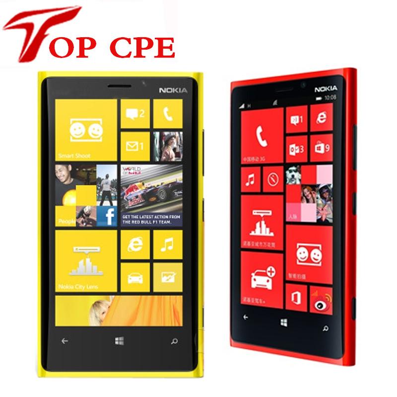 1 Year warranty Unlocked Original Nokia Lumia 920 refurbished Windows Phone 8 Dual Core 32GB Storage 4G cell phone free shipping(China (Mainland))