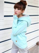 2016 New Autumn Spring Women Hoodies Candy Color Pullovers Sweartshirts Female Tops Tracksuits Sport Moleton Feminino (China (Mainland))