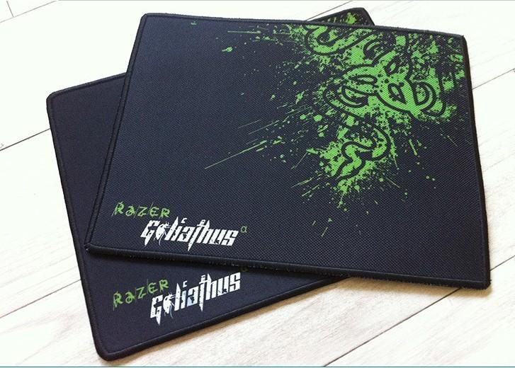 oem razer goliathus gaming mouse pad 300*250*2mm locking edge mouse mat speed version for dota lol cs(China (Mainland))