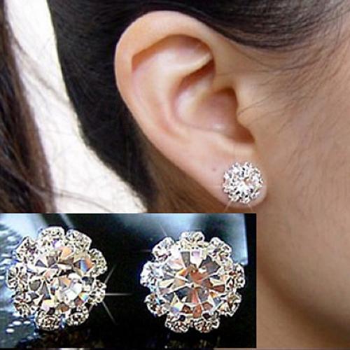 Гаджет  2015 New New FASHION Special Crystal Flower Stud Earrings for Women girls 66WX 6NTA None Ювелирные изделия и часы
