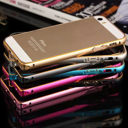 With Buttons Metal Aluminum Arc Case Bumper case for iphone 5 5s 5g(China (Mainland))
