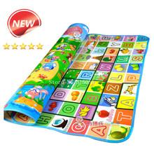 Nuovo doulble-site bambino giochi mat 2*1.8 meter fruit lettere e happy farm bambino beach mat picnic carpet bambino crawling mat CM-015(China (Mainland))