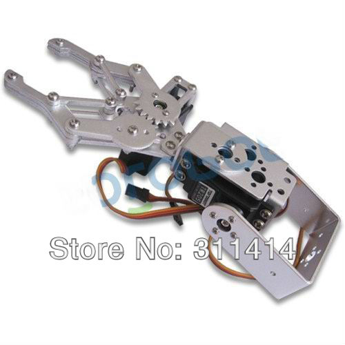 1 Set 2 DOF Aluminum Robot Arm Clamp Claw Mount Kit (No servo) Un-assembly Fit For Arduino Wholesale Retail + Free Shipping(China (Mainland))
