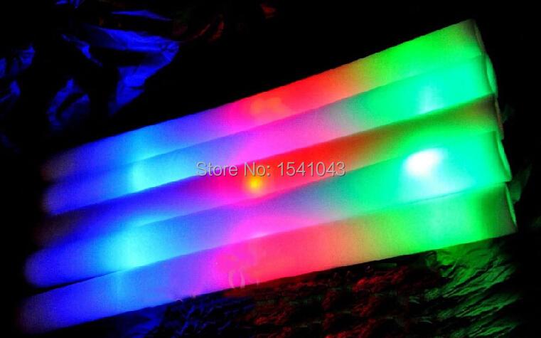 EMS free shiping 200/lot led foam stick light up cheering glow foam stick foam glow stick led stick(China (Mainland))
