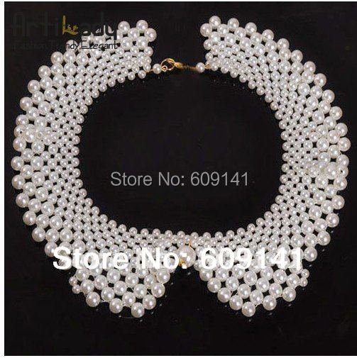 Artilady  NEW   ftyh_11040434 lovely  pearl Chocker necklaces luxurious Collars Pearl necklaces fashion Torques jewelry