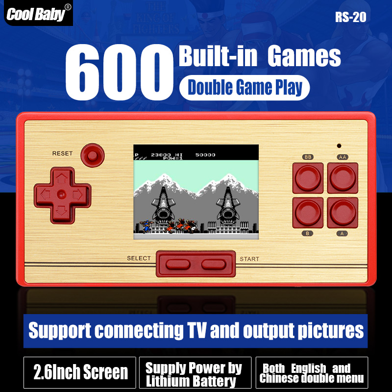 FCPOCKET Classic 8 bit Game Handheld Console, build-in 472 games, free 128 in 1 game cartridge, 2nd Player Controller Wholesale(China (Mainland))