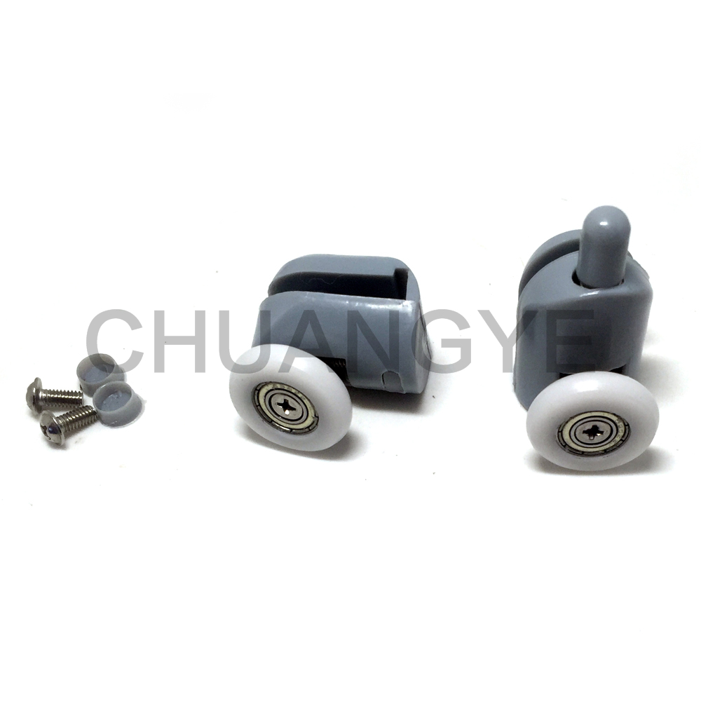 New Set of 4 Top +4 Bottom Single Shower Door Rollers / Runners / Wheels / Pulleys / Guides 27mm Diameter Home Bathroom(China (Mainland))