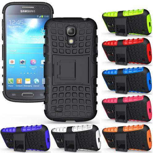 NEW Hybrid Impact Armor Rugged Hard Case Cover Stand Holder Phone Cases PHONE CASES FOR SAMSUNG GALAXY S4 MINI Free Shipping(China (Mainland))
