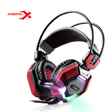 Buy XIBERIA V6 USB Gaming Headphones LED Light Led Deep Bass Stereo Surrounded Headband Gaming Headsets Microphone PC Gamer for $25.29 in AliExpress store