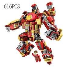 Ironman Tony Stark Avengers Marveled Hulk Blocos de Construção Compatível Com legoing Infinito guerra Máquina de tijolos Brinquedos para as crianças(China)