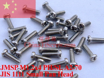 stainless steel screws M1.2X4 Pan Head Phillips Driver A2-70 - ChinaTiScrew store