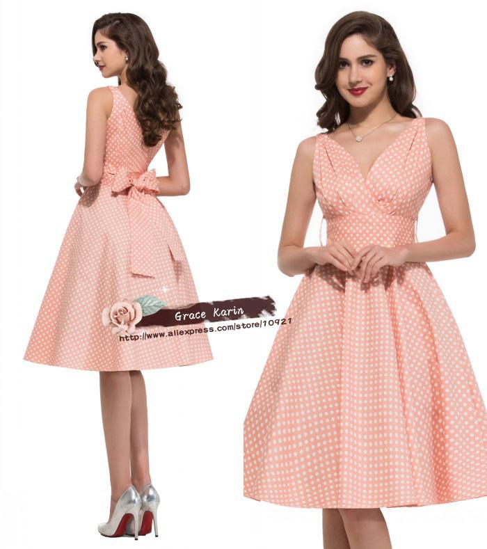 где купить Женское платье Grace Karin 2015 50s 60s Swing Vestidos Femininos CL6295 по лучшей цене