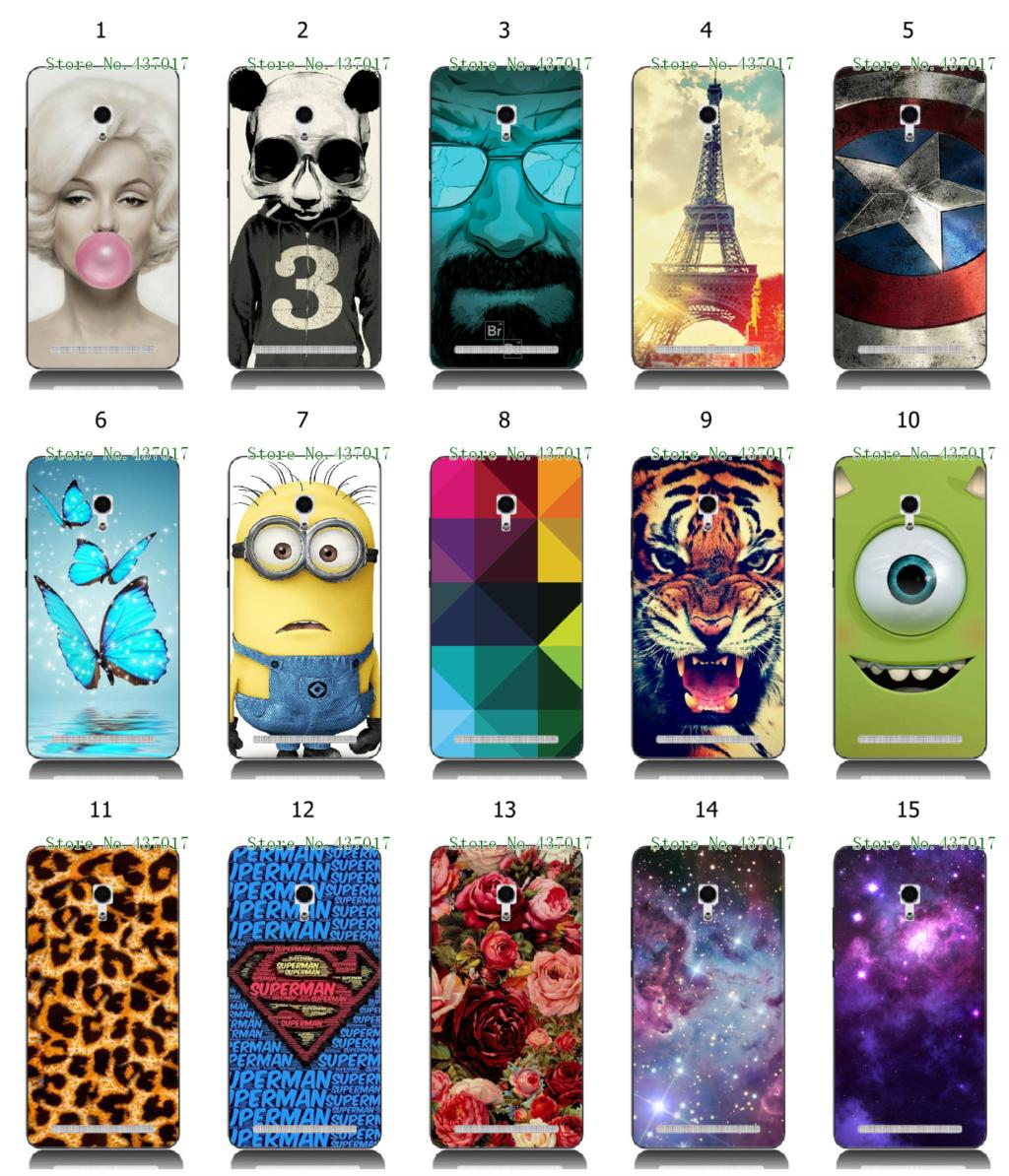 2015 new hot despicable rose flower eiffel tower white hard back cover cases Asus Zenfone 6 + - allmobilecase store