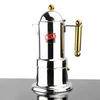4 чашки мока кофеварка / эспрессо VEV кофе горшок нержавеющая сталь мока кофе машина