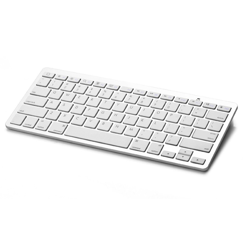Ultra Slim Universal Bluetooth V3.0 Keyboard Wireless Keyboard 78-Key for All Windows Android iOS PC Tablet Smartphone - Silver<br><br>Aliexpress