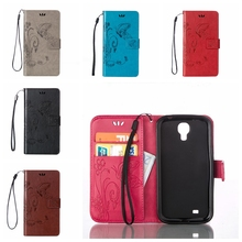 Buy Vintage PU Leather Wallet Butterfly Pattern Cases Samsung galaxy S4 Mini GT-I9195 I9192 I9190 Cover Phone Fundas Coque for $2.34 in AliExpress store