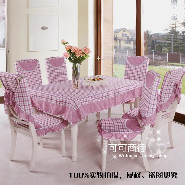 Rustic ed28 lilac fashion plaid quality cloth dining table cloth tablecloth dining table cloth table linen cushion chair cover