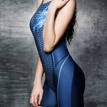 Competition Professional Swimwear Women Sport Swim Suit Female One Piece Swimsuit Print Plus Size Bathing Suit 2015 M-3XL(China (Mainland))