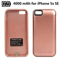 Free Shipping 4000mAh External Pack portable Backup Battery Power Case For iPhone5S SE Mobile Charger