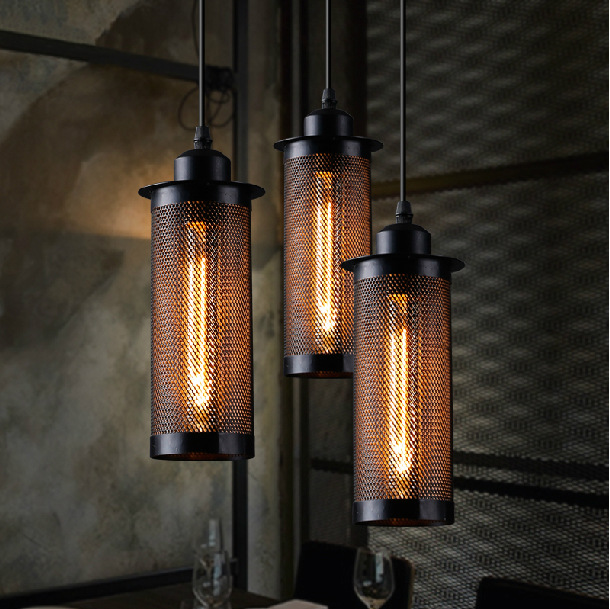 Industrial Creative Personality Nordic American Bar Cafe Small Balcony Grid Chandelier LED Pendant Lamp AC220V Hanging Lamp(China (Mainland))
